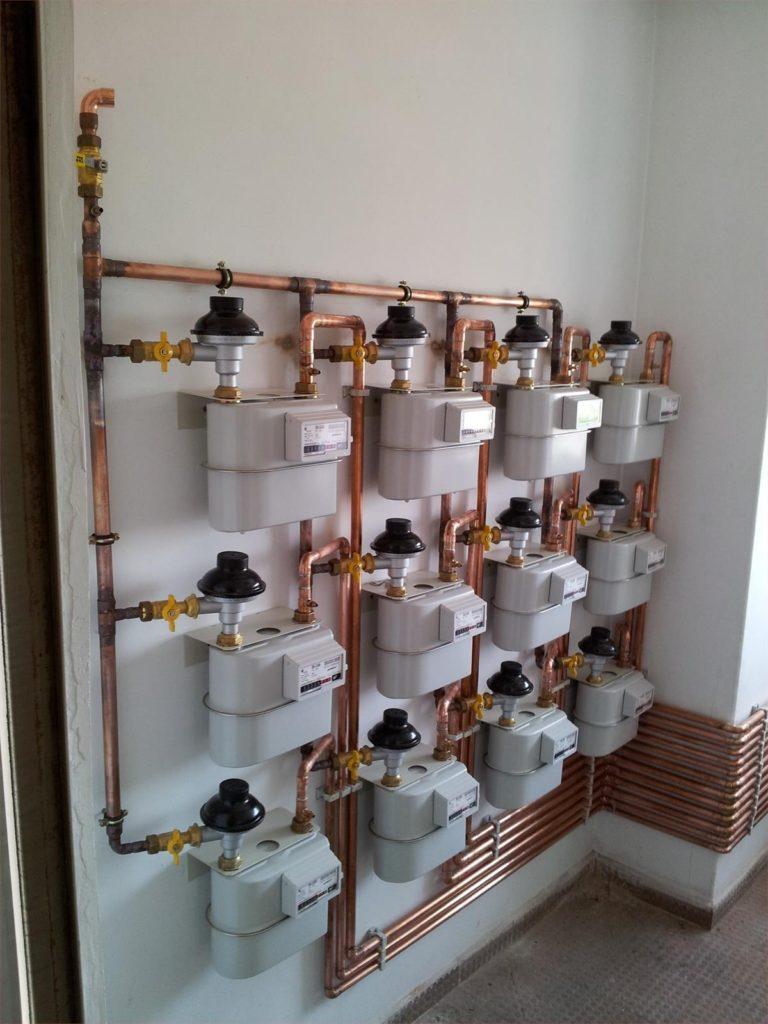 instalación comunitaria de gas con centralización de contadores